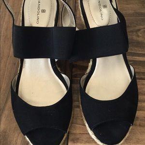 Bandolino espadrille sandals size 7.5 BLACK NEW